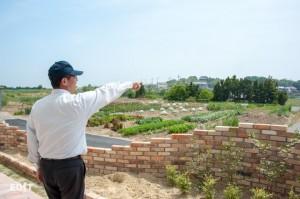 ココテラスの周辺でも、 地域の農家との連携を感じることができます