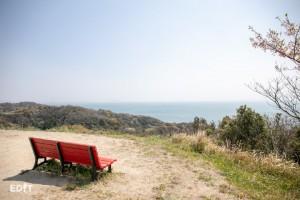 知多半島の南端が望める 景色の良い公園