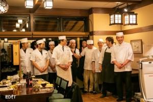 食後には料理人一人一人が 紹介されている