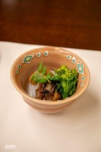 碧南サラダたまねぎと ウナギの風呂炊き