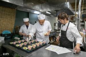 ジャンルの違う 料理人たちのコラボレーション